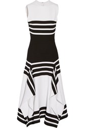 Rosetta Getty Striped Stretch Jersey Midi Dress White