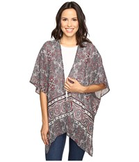 Stetson Gypsy Border Chiffon Cardigan Grey Women's Sweater Gray
