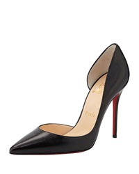 Christian Louboutin Iriza Red Sole Half D'orsay Pump Black