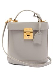 Mark Cross Benchley Saffiano Leather Shoulder Bag Light Grey