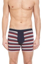 Nordstrom Men's Shop Striped Pouch Briefs Navy Red Feeder Rugby Stripe