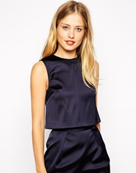 Warehouse Co Ord Shell Top Navy