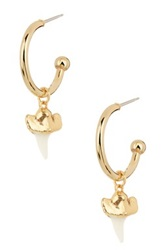 Janna Conner Tala Shark Tooth Hoop Earrings No Color
