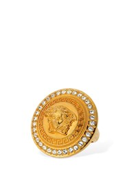 Versace Medusa Tribute Ring W Crystals Gold