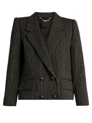 Marc Jacobs Striped Double Breasted Jacket Black Multi