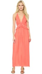 Thakoon Halter Gown Coral