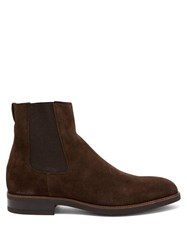 Paul Smith Canon Suede Chelsea Boots Brown