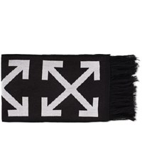 Off White Diagonals And Arrows Scarf Black
