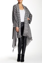 Romeo And Juliet Couture Striped Asymmetric Cardigan Black