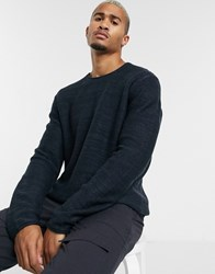 Only And Sons Crew Neck Knitted Jumper In Navy