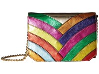 Just Cavalli Colored Laminated Leather Over The Shoulder Bag Multi