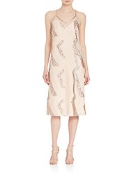 Abs By Allen Schwartz Sequin Beaded Slip Dress Champagne