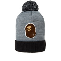A Bathing Ape Head Knit Cap Grey