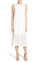 Women's Painted Threads Side Slit Midi Dress White