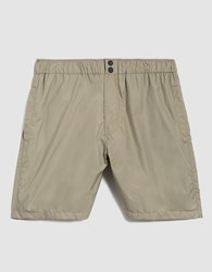 Saturdays Surf Nyc Trent Solid Short In British Khaki