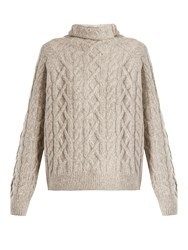 Vince Cable Knit Wool Blend Sweater Light Grey