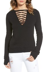 Pam And Gela Women's Lace Up Pullover