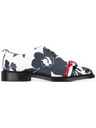 Thom Browne Laced Floral Bow Detail Shoes Women Leather 37 Blue