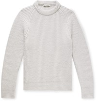 Our Legacy Ribbed Baby Alpaca Blend Sweater Neutrals