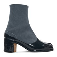 Maison Martin Margiela Blue And Navy Tabi Boots