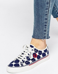 Fred Perry Ridley French Navy Graphic Dot Trainers Frenchnavy