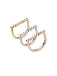 Jules Smith Designs Pyramid Stackable Rings Gold Silver