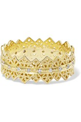 Grace Lee Eternity Lace 14 Karat Gold Diamond Ring 7