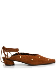 Reike Nen Lace Up Mules Brown