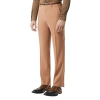 Burberry Wool Canvas Pants Warm Camel