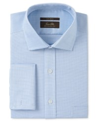 Tasso Elba Men's Classic Regular Fit Non Iron Aqua Square Texture Dobby French Cuff Dress Shirt Only At Macy's