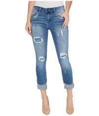 Kut From The Kloth Connie Skinny Crop Fray Hem In King King Women's Jeans Black