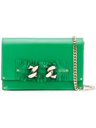 Casadei Fringed Shoulder Bag Women Chamois Leather Nappa Leather Kid Leather One Size Green