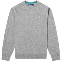 Barbour Essential Lambswool Crew Knit Grey