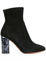 Carven Marbled Heel Ankle Boots Black