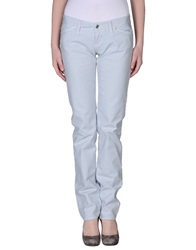 Two Women In The World Denim Pants Sky Blue