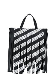 Marc Ellis Fringed Tote Bag Black