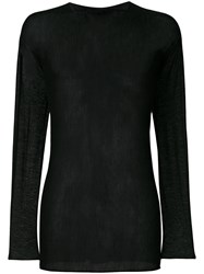 Label Under Construction Arched Veil Jumper Virgin Wool M Black
