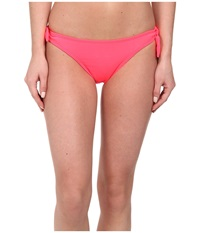 Shoshanna Bow Bottom Neon Ruby Women's Swimwear Pink