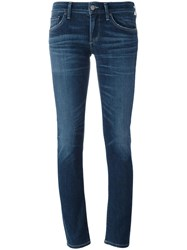 Citizens Of Humanity Low Rise Skinny Jeans Cotton Spandex Elastane Rayon Tencel Blue