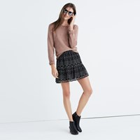 Madewell Caravan Print Mini Skirt Tribal True Black