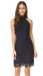 Bb Dakota Cara High Neck Lace Dress Blue Ridge