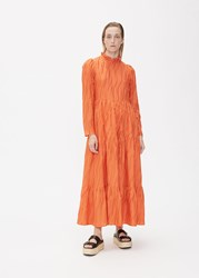 Stine Goya Long Sleeve Judy Dress Red Orange