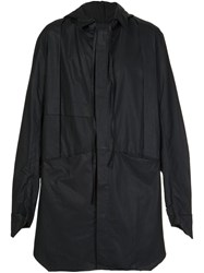 Barbara I Gongini Oversized Windbreaker Black
