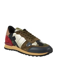 Valentino Camo Studded Trainer Female