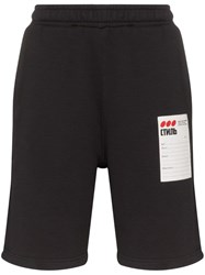 Heron Preston Brand Label Track Shorts Black