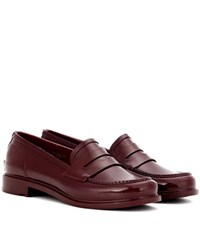 Hunter Original Penny Loafers Red