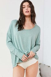Out From Under Ava Cozy Scoop Neck Top Green