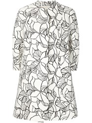 Giambattista Valli Embroidered Floral Coat White