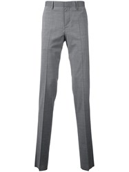 Estnation Suit Trousers Men Polyester Polyurethane Wool 46 Grey