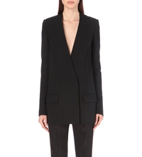 Haider Ackermann Wrap Front Stretch Wool Blazer Black
